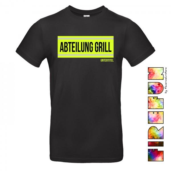 """FIREFUN - T-Shirt mit Aufschrift """"Abt. GRILL"""""""