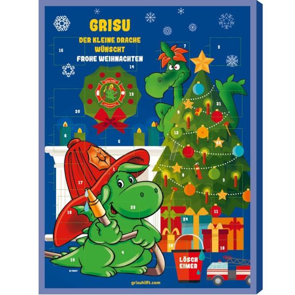 Grisu hilft! Feuerwehr Adventskalender mit 0,50€ Spende