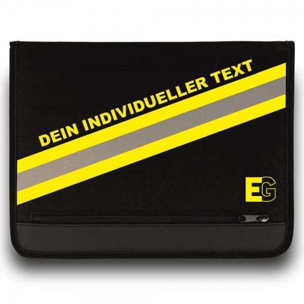 Einsatz Schreibmappe EG-HUPF mit Reflexstreifen & Wunschtext