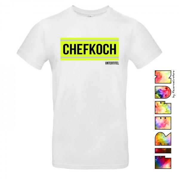 """FIREFUN - T-Shirt mit Aufschrift """"CHEFKOCH"""""""
