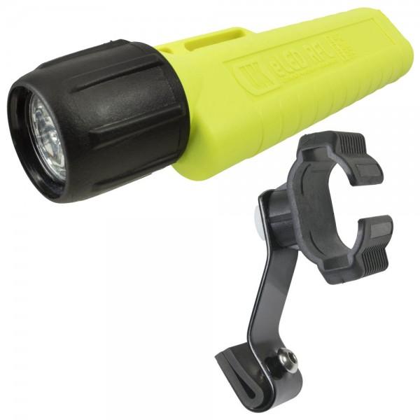 UK 4AA RFL Helmlampe Aktionspack mit hochwertiger Helmhalterung